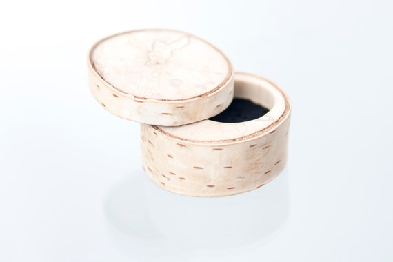 Original birch wood box. Personalized engagement wood ring box. Birch ring box handcrafted in Canada