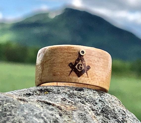 Masonic ring, Owl's Head Mountain Lodge 5 , Eye of Providence Illuminati Triangle, Secret Society Symbol, Square and compass, freemasonry,