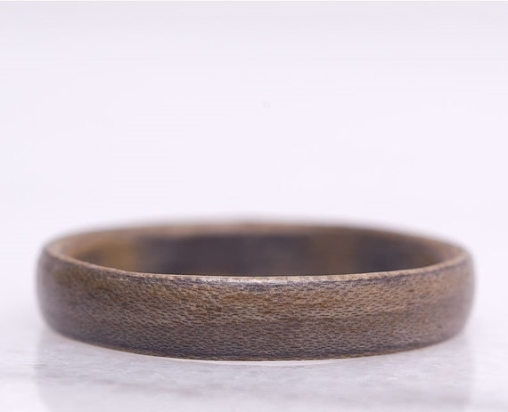 Personalized minimalist wood ring - A Brazilian rosewood ring -  Environmentally responsible wedding ring handmade in Canada
