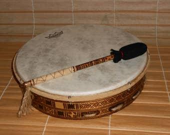 14'' Shaman Drum with stick - Orion calendar