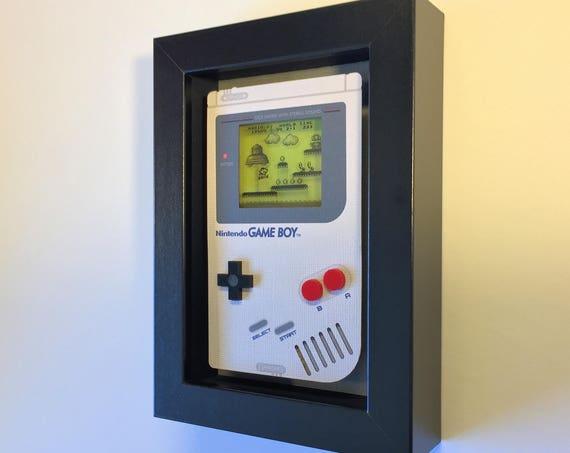 Super Mario Land Nintendo Game Boy Shadowbox Art Sculpture Diorama 5x7