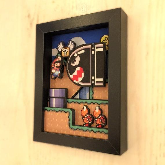 "Super Mario World Shadow Box 5""x7"""