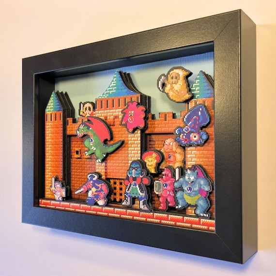 Wonder Boy in Monster Land 3D Arcade Shadowbox 5x7 Diorama Sega Genesis