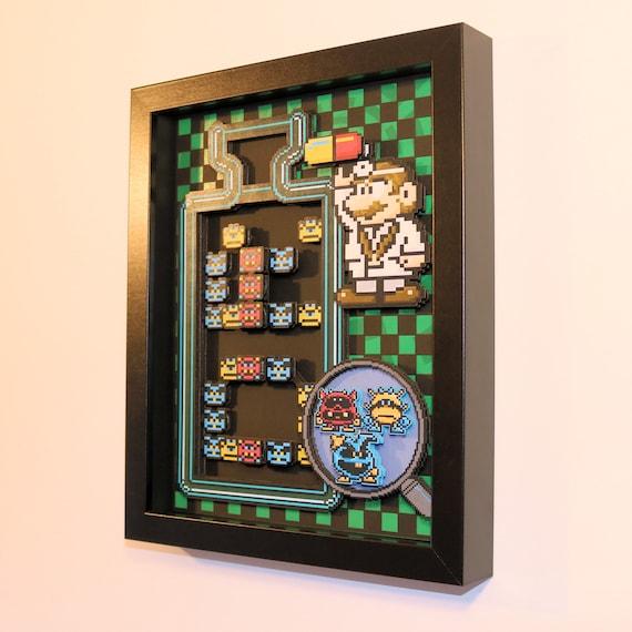 "Dr. Mario Shadow Box 8""x10"" Diorama"