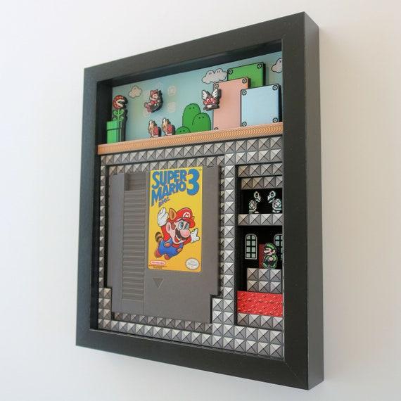 "Super Mario Bros. 3 Shadow Box Cartridge Holder 8""x10"""