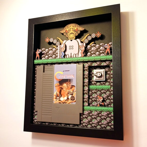 Contra Shadowbox Nintendo Art for the NES from Glitch Artwork