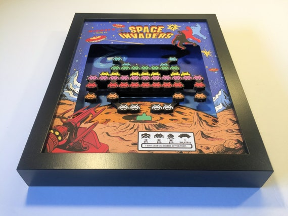 Space Invaders Arcade 3D Shadow Box
