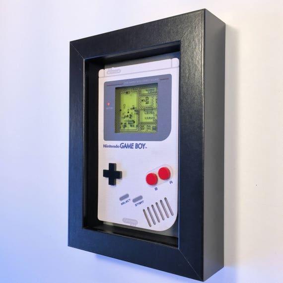 Dr. Mario Nintendo Game Boy Shadowbox Art Sculpture Diorama 4x6