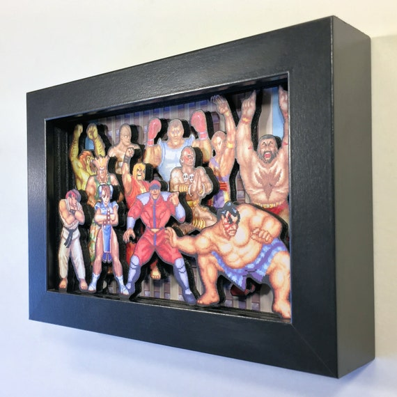 Street Fighter II 3D Shadow Box 5x7 Street Fighter II