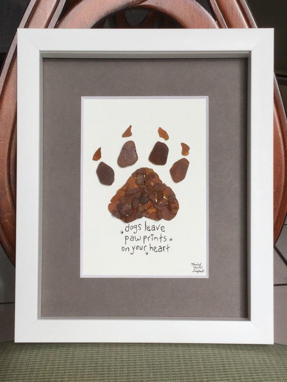 Sea Glass dog quote print