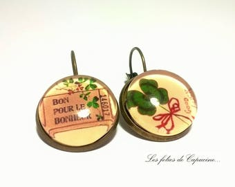 Earrings Cabochon •SAINT PATRICK•