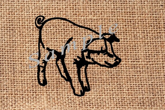 Piglet Transparent PNG For Making Feed Sacks Pillows Totes Towels Bags 300  DPI