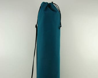Teal Cotton Duck Yoga Pilates Mat Bag