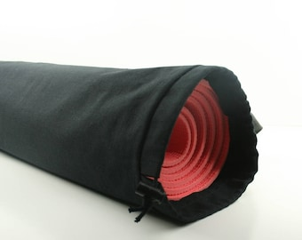 Black Cotton Duck Yoga Pilates Mat Bag