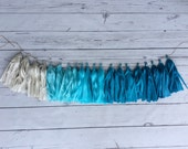 Shades of blue ombrè tissue Garland/ombrè/tissue paper/party decorations/decor
