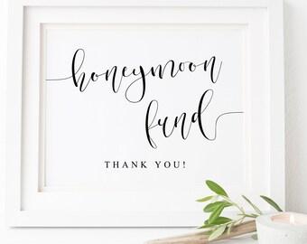 honeymoon fund honeymoon fund sign honeymoon fund printable gifts printable wedding sign wedding signs gifts sign