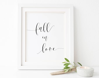 Fall In Love Sign-Fall In Love Printable-Wedding Printables-Autumn Wedding Reception Sign-Wedding Signs-Wedding Decor-Wedding Reception.