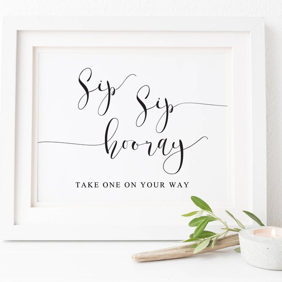 photo regarding Sip Sip Hooray Printable known as Sip Sip Hooray Signal-Bubbly Bar Signal-Printable Bar Indicator-Wedding day Indications-Bubbly Brunch Indicator-Bachelorette Signal-Champagne Indication-Mimosa Bar Signal.