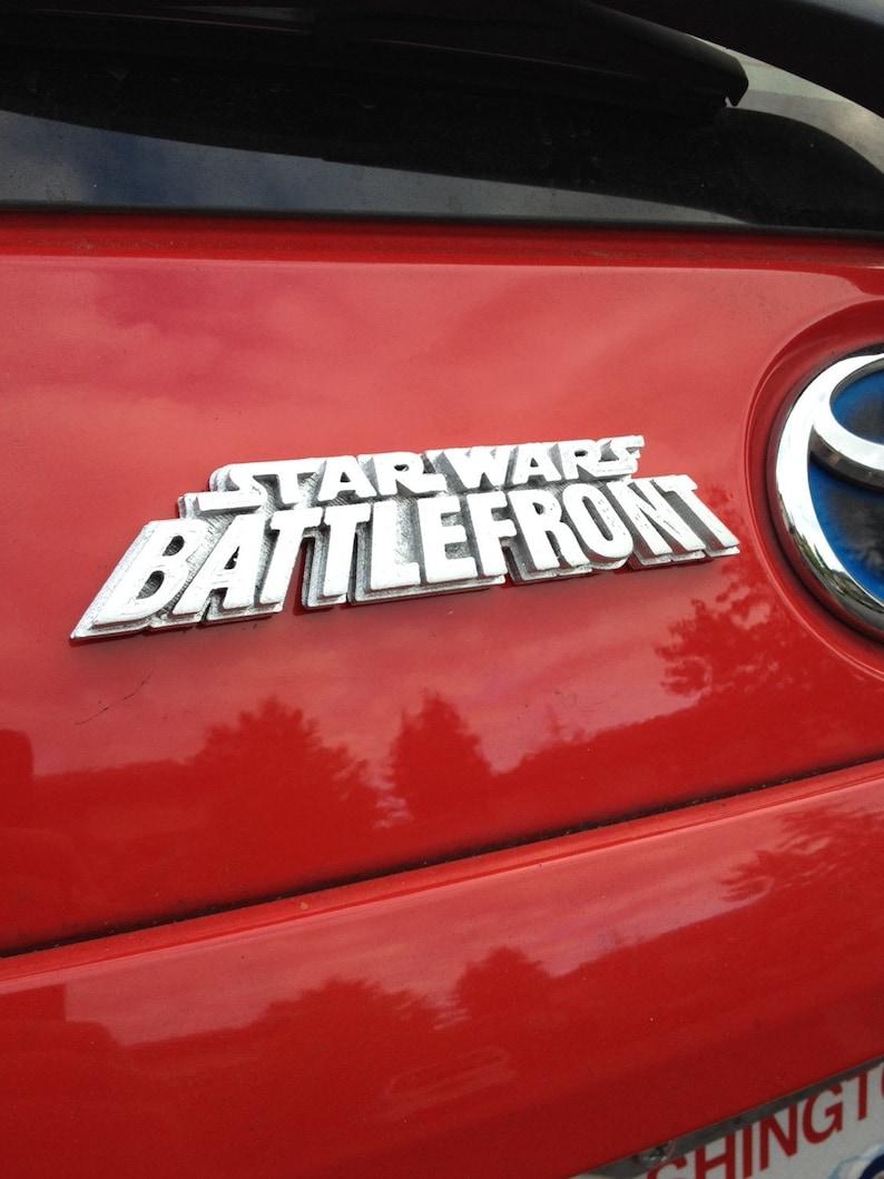 Fanart 3D printed silver Star Wars Battlefront car decal/logo/magnet, great  gift for nerd girl or boy