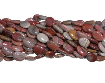 15 IN Strand 13x18 mm Fantasy Jasper Natural Oval Shaped Smooth Gemstone Beads (FTJ100105)