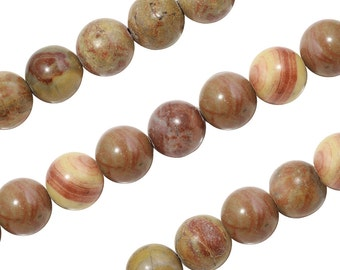 15 IN Strand 10 mm Apple Jasper Round Smooth Gemstone Beads (ALJRND0010)