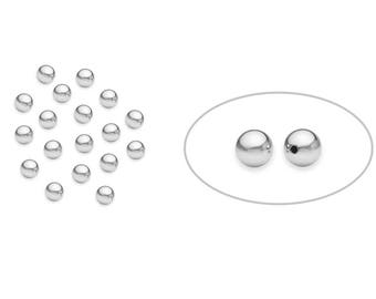 50 Pcs 3 mm Sterling Silver Seamless Round Beads (SS402003)