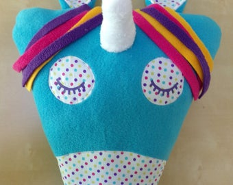 Cushion 2 in 1 turquoise Unicorn model Pajama bag