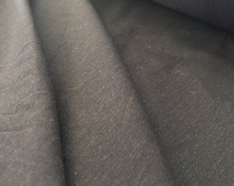 Light Weight Black Twill from Portugal Somelos Mill by the Yard