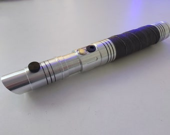 """Custom """"Eradicator (9)"""" lightsaber with RGB LED and Golden Harvest v3 Soundboard, combat-ready"""