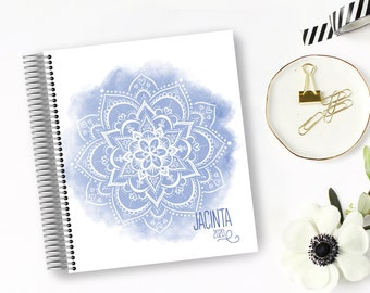 2022 Weekly Planner - Jacinta Watercolour Mandala - 12 Months - Financial Planner - Whistle and Birch - 2021/22 Diary - 2022 Planner