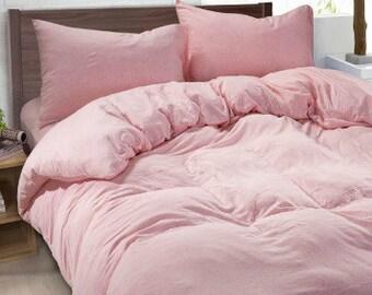 Ballet Slipper Pink Duvet Cover Made Of 100% Ultra Soft Linen, Pink Bedding,  Twin Bedding, Dorm Bedding, Queen Duvet Cover, King Duvet Cover