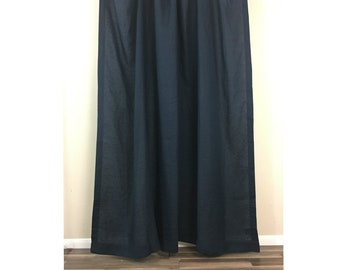 Black Linen Shower Curtain