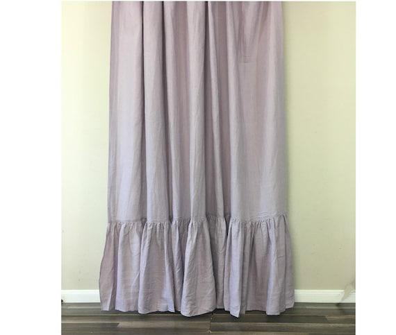 orchidee leinen duschvorhang mit meerjungfrau langen r schen etsy. Black Bedroom Furniture Sets. Home Design Ideas