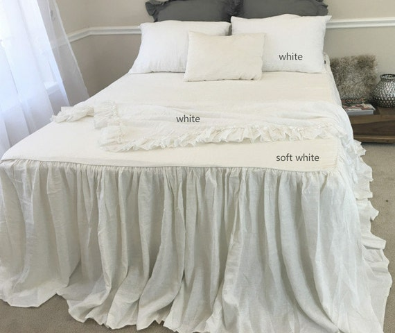 Soft White Bedspread Off White Bedspread Off White Bedding White Bedspread Queen King Twin Full