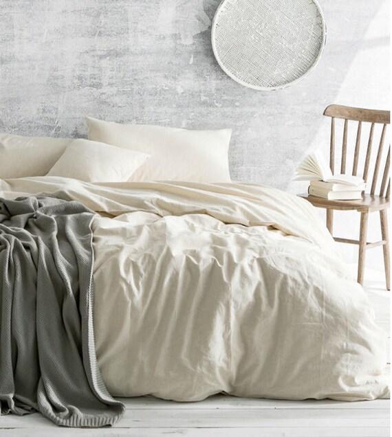 Cream Linen Duvet Cover Ivory Cream Bedding Natural Linen | Etsy