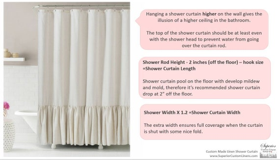 Guvana Blue and Cream Stripe Fabric Shower Curtain Set with Metal Buttonholes Shower Curtains for Decoration Bathroom Shower Bathtubs Curtains 72x 72 Bathroom Curtains Waterproof Machine Washable