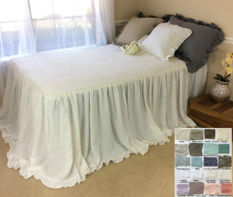 Bettwäsche Tagesdecke Bettwäsche Bettdecke Rüschen Die Etsy