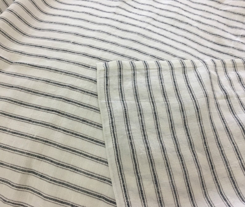 Twin Available in Queen King Custom Size Welcome Iron and White Striped Linen bed sheets Full