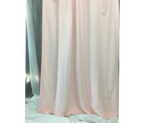 Pink Linen Curtaincustom Curtains Extra Long Curtains Etsy