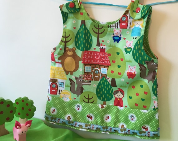 Sale! -20% Red riding hood baby dress, hand made size 56