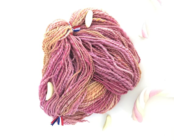 Sale! -20% Hand spun and hand dyed merino yarn 170 gram, 166 meter