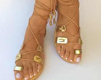 Gladiator Greek Leather Sandals, Womens shoes, Strappy sandals, Handmade sandals, Womens sandals