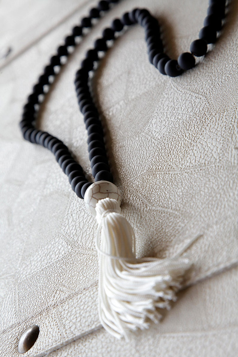 necklace gift card necklaces long tassel necklace women/'s gifts summer necklace handmade with a bigger white turquoise stone