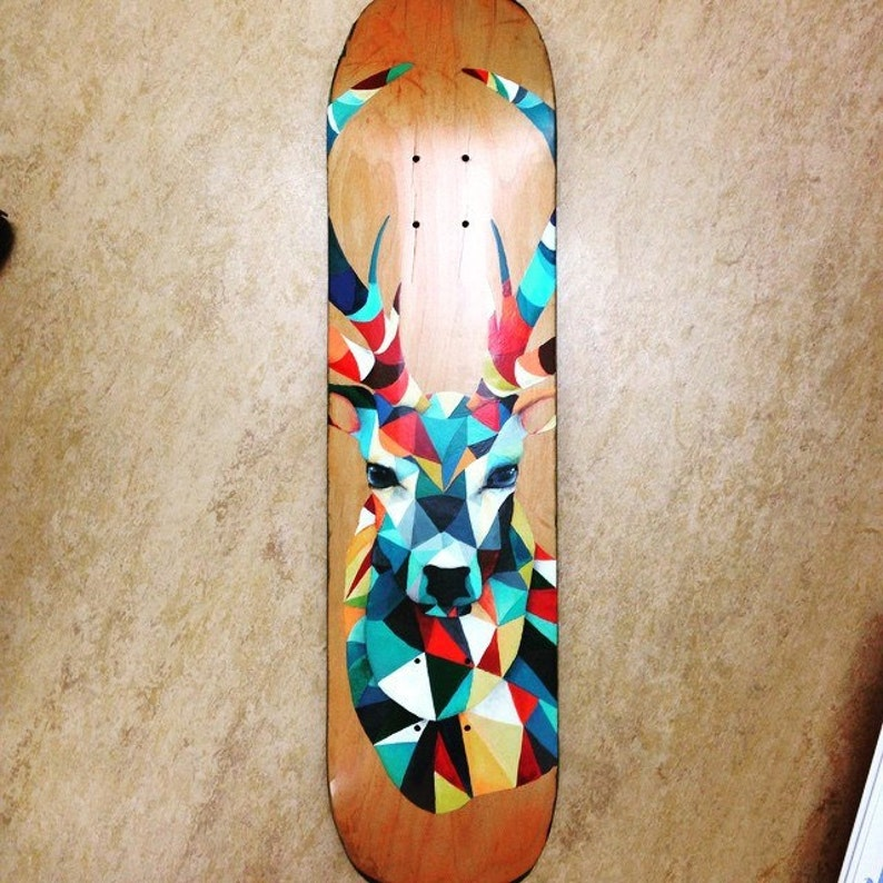 Custom Skate Deck - acrylic and pastel