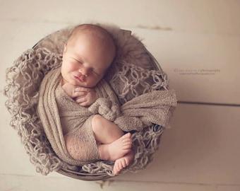 Light Brown Baby Wrap Newborn Photo Prop Stretch Wrap Baby Photography Wrap, Newborn Photography Prop!