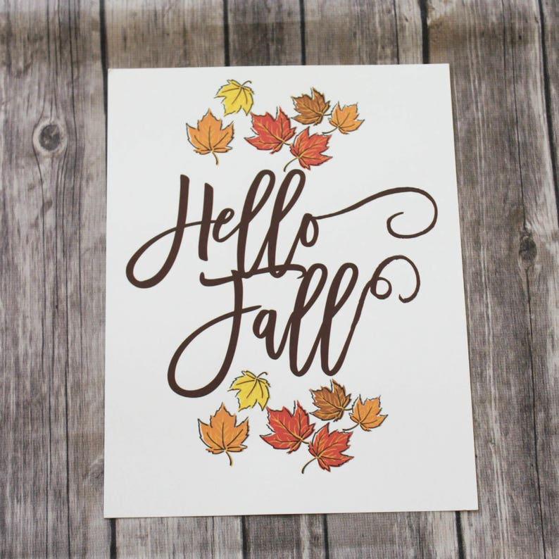 Hello Fall Printable Fall Decorating Home Decor Printable image 0