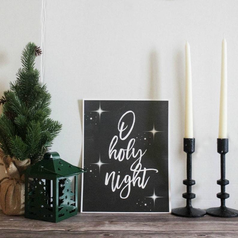 O holy Night  Printable 8 x 10 Christmas Printable image 0