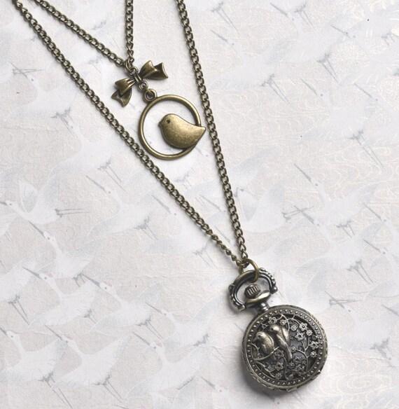 Fashion Jewelry Necklaces & Pendants Romantic Collar Bronce Conejo Alicia En El Pais De Las Maravillas