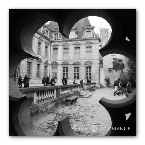 Impresión De Foto De Piedra Roseta París Decoración Arte De La Gran Pared Fotografía De París Fotografía Blanco Y Negro Lienzo Cuadrado De París