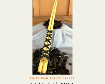 Rolled Beeswax Candles, Twist